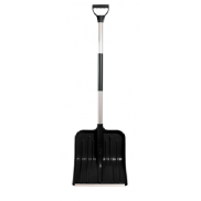 Plastic Snow Shovel with Metal Handle